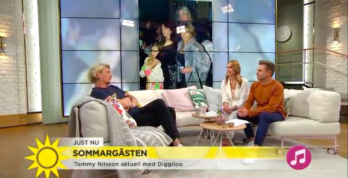 Tommy Nilsson sitter i Nyhetsmorgon soffan.
