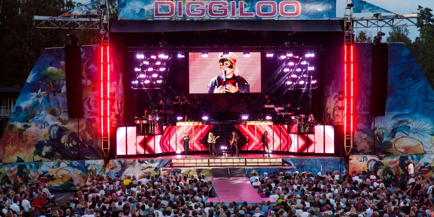 Scen och publikbild från Diggiloo.