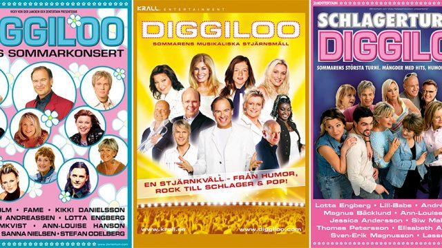 Tre olika maner bilder för Diggiloo.